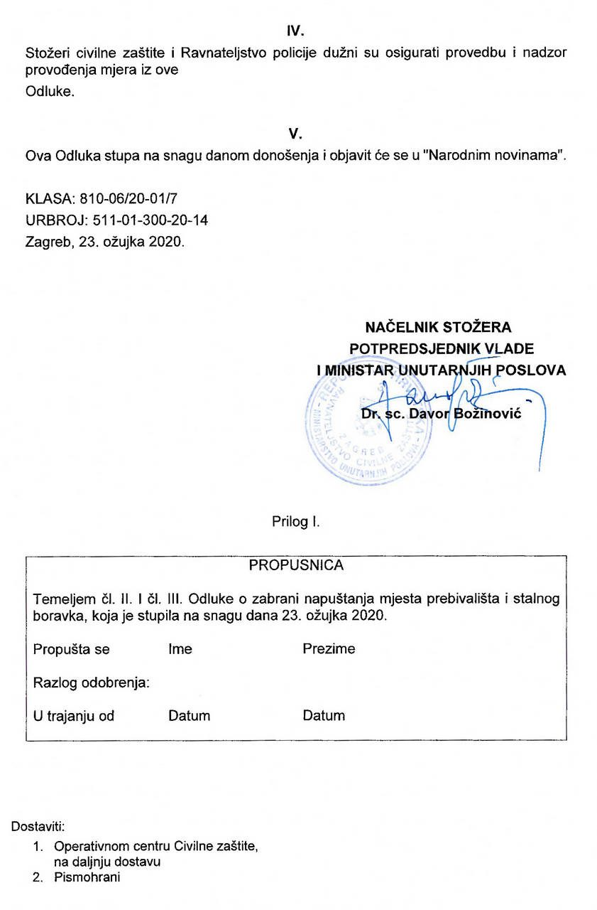 Odluka o zabrani napustanja prebivalista-2